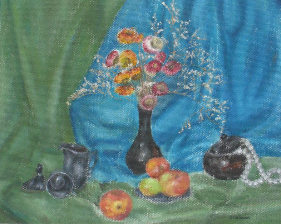 Farbami olejnymi na płycie pilśniowej