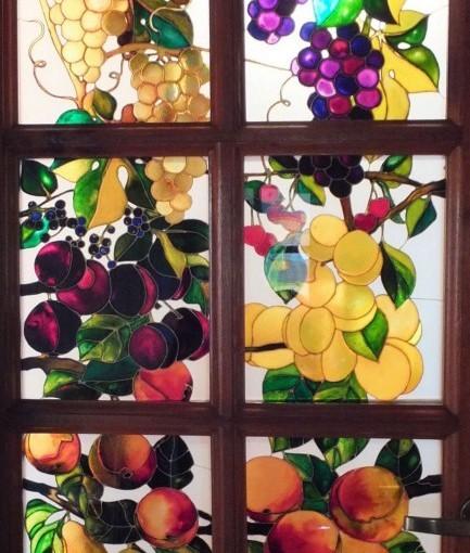 Witraże – owoce