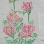 różyczki-kredki świecowe