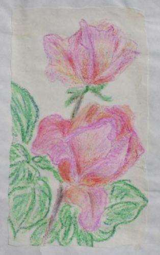 Kredkowe kwiatki-kredki świecowe