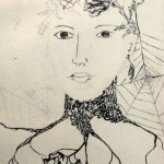 Kobieta zamieniona w drzewo-szkic