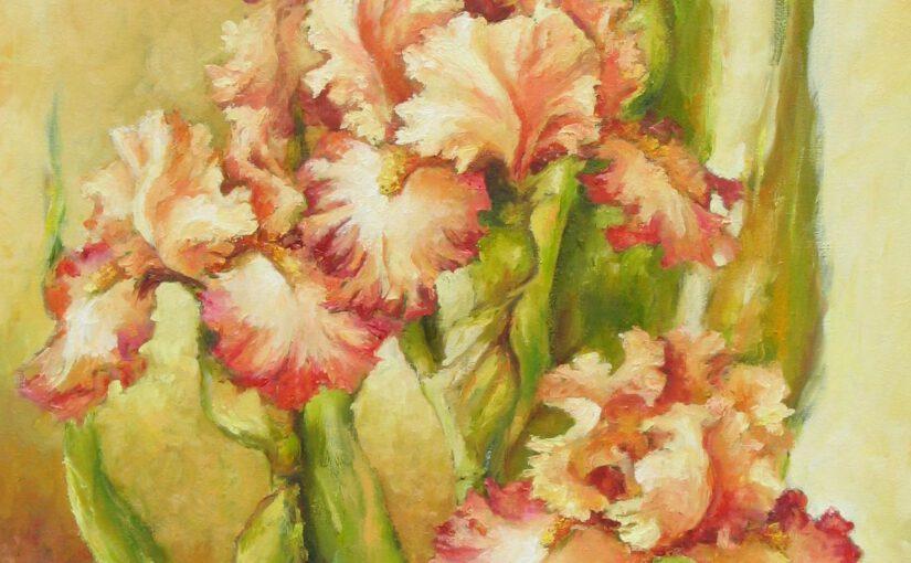 Kwiaty – szkicowanie, przemalowania, efekt końcowy